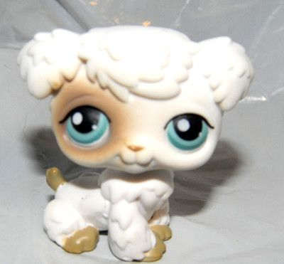 Littlest Pet Shop White And Brown Poodle Dog Puppy 204 Htf Rare