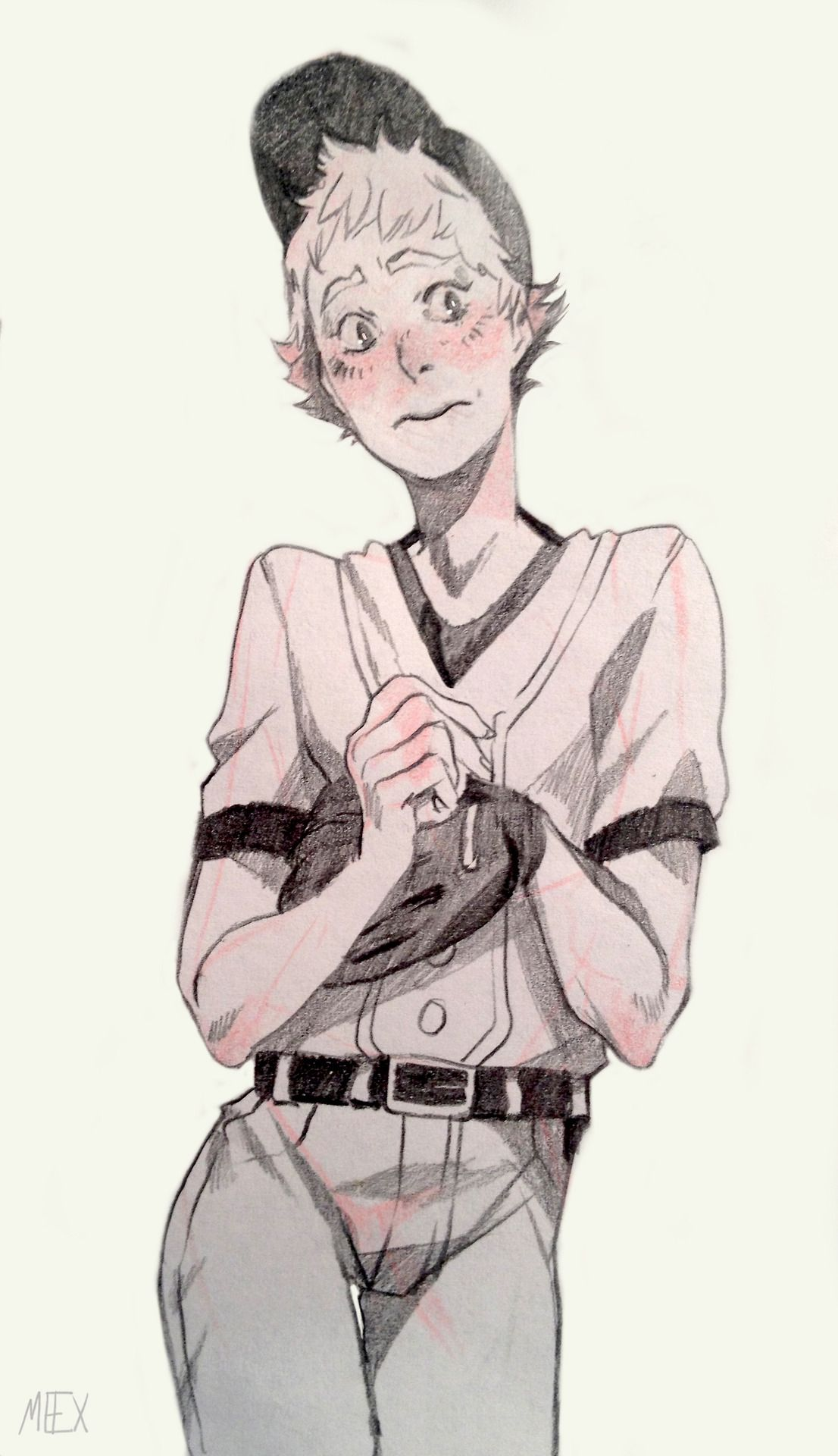 I donut know who this is but heus adorable or a secret yandere