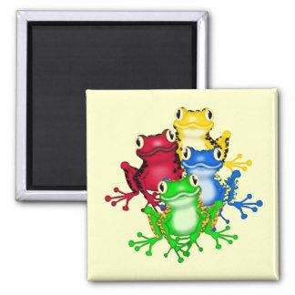 Four Frogs Tshirts and Gifts Fridge Magnet