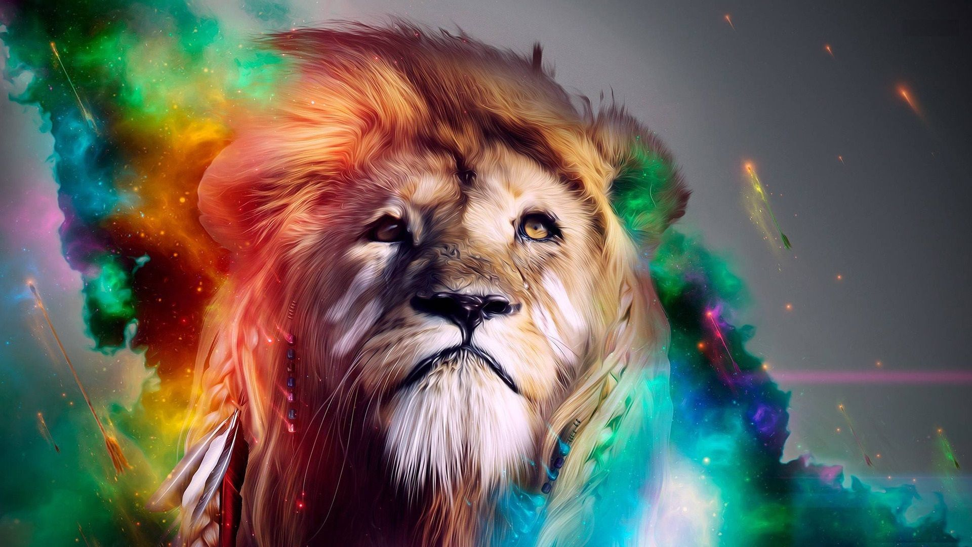 Colourful Lion Animals Pinterest Lion Wallpaper Lion Hd