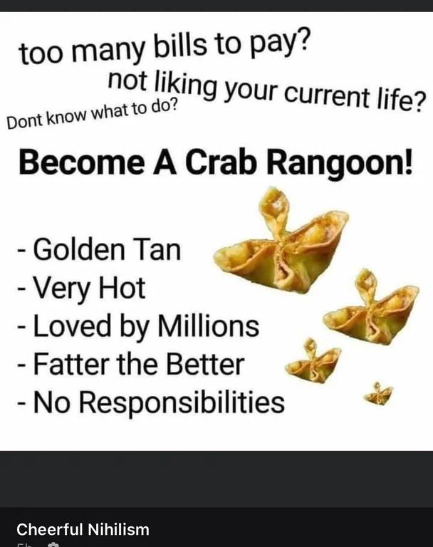 Crab Rangoon For The Win Thebachelor Crab Rangoon Rangoon Crab