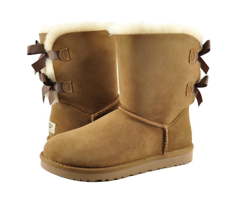 Brown Uggs With Bows For Women Re black uggs with ribbon on back premium 2 ribbon ugg boots chestnut mini bailey bow uggs chestnut re re mini bailey bow ...