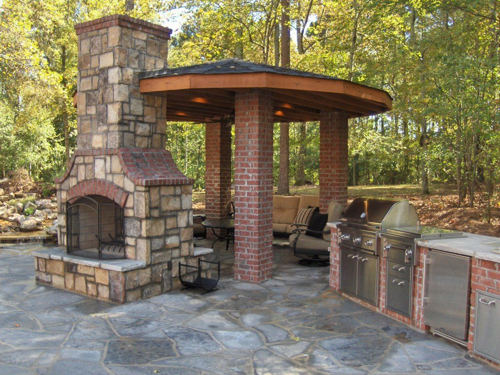 how to build an outdoor brick fireplace | fireplace design ideas