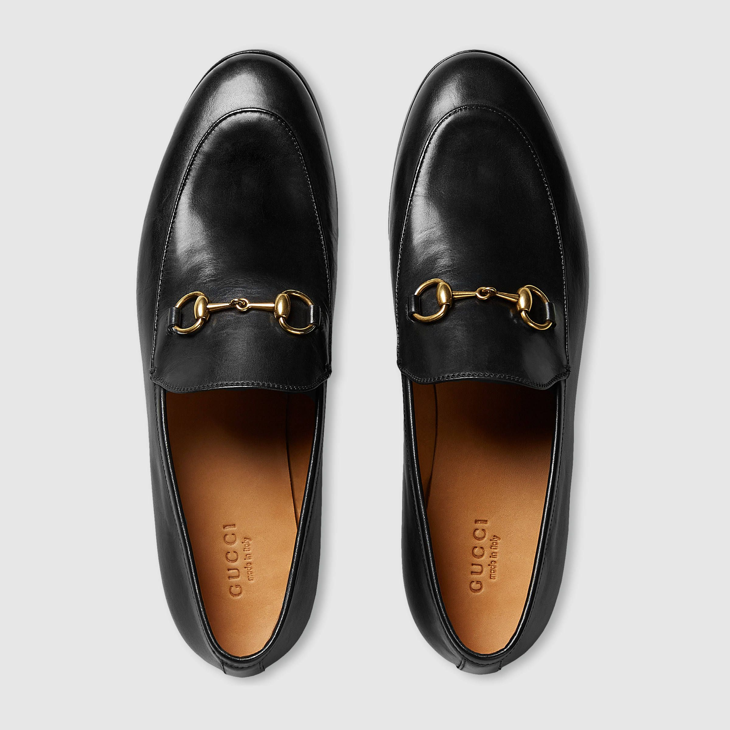 5e299d703659e Gucci Women - Gucci Jordaan leather loafer - 404069BLM001000 Mocassins Gucci  Femme, Gucci Chaussures,