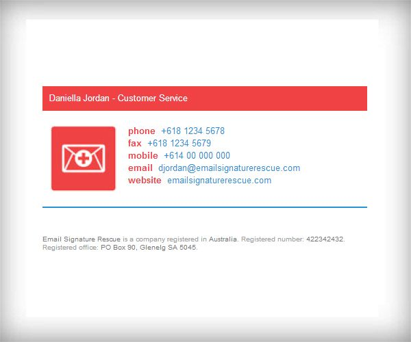 Color Bar Email Signature Template with 100x100 Logo - Like this - email signature template