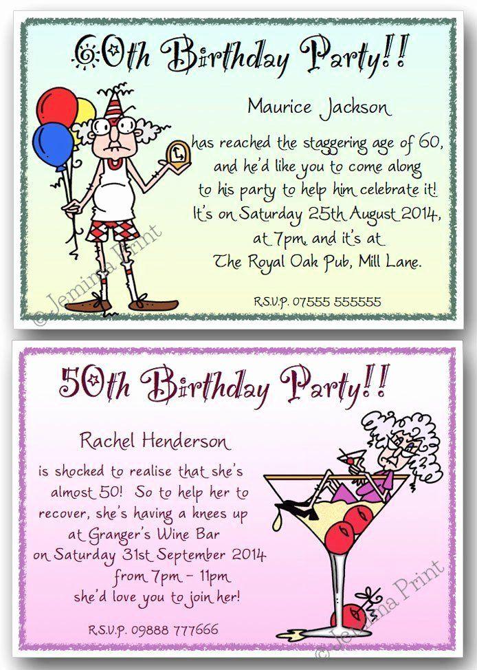 50th Birthday Party Invitation Ideas Unique 40th 50th 60th 70th 80th Funny Birthday Party Invitation Funny Birthday Invitations 60th Birthday Party Invitations
