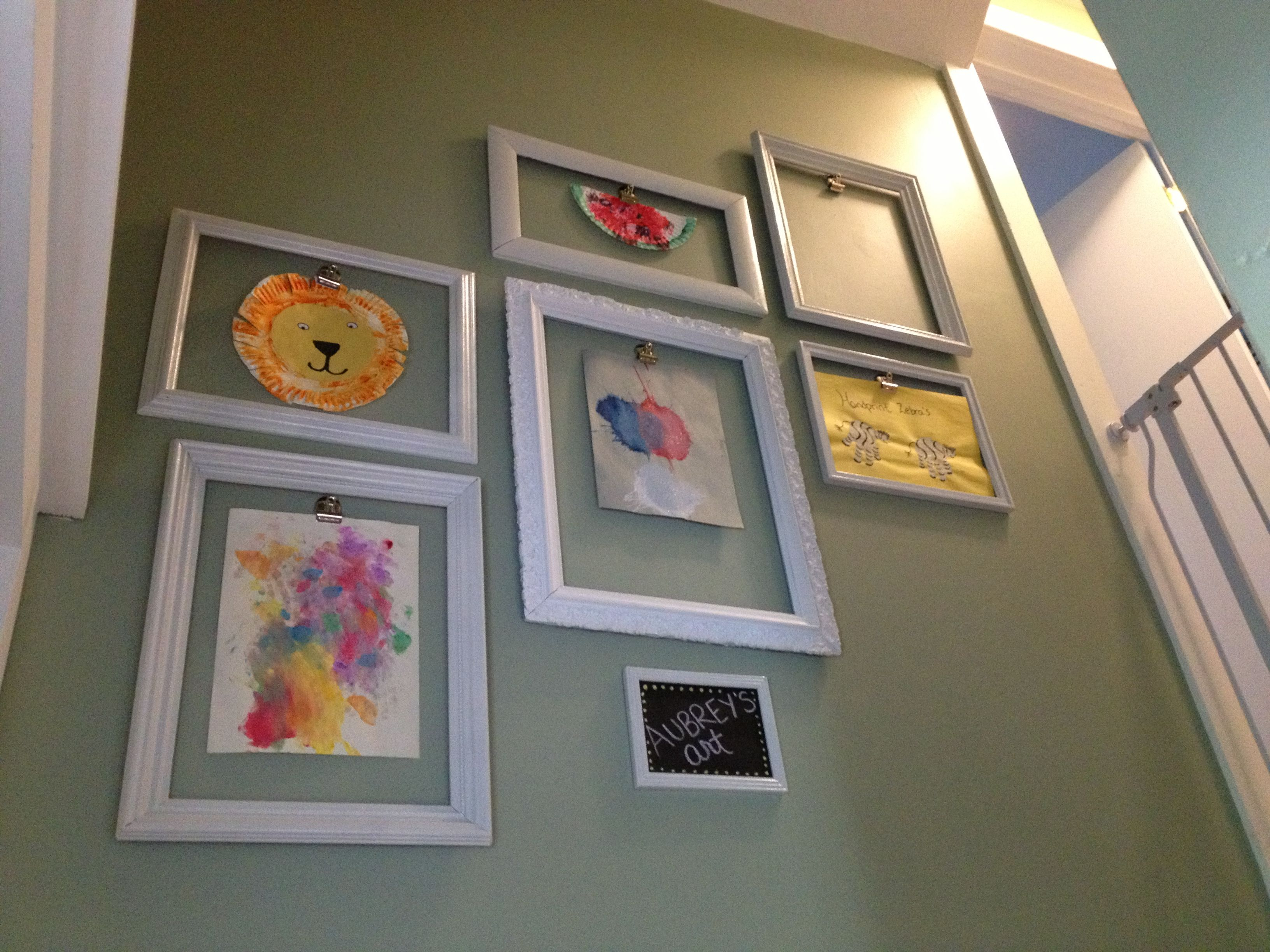 Fun Way To Display Childrens Artwork Displaying Kids Artworkplayroom Ideasbasement