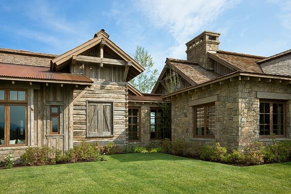 Wyoming Residence Exterior View By Locati Architects Photography Roger Wade Studio Jackson Hole
