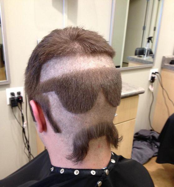 I Hope It Was Because He Lost A Bet Lustige Frisuren Haarschnitt Ideen Haare Schneiden