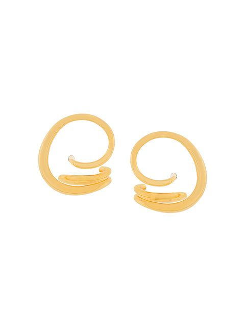 Charlotte Chesnais Round Trip earrings - Metallic rN2dUrV