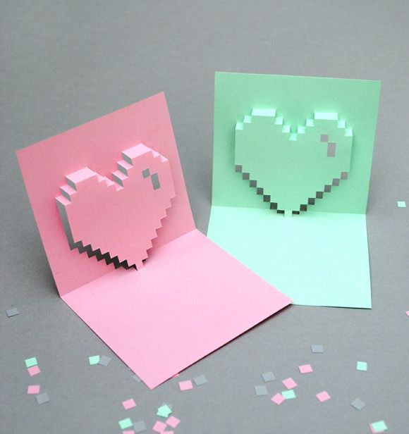 geometric printables for valentines day valentine day cardsdiy - Valentines Day Cards Diy