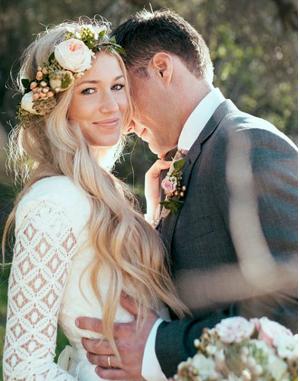 Wavy Wedding Hair minus the floral crown