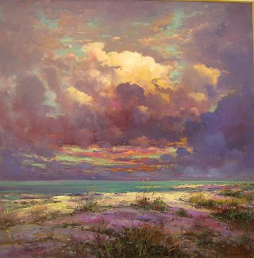"""Forgotten Coast"" by Robert Andriulli -oil..Robert shows his work at Steven Scott Gallery"