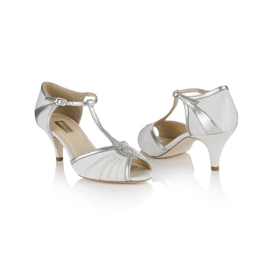 Matilda Ivory T Bar Wedding Shoes By Rachel Simpson Notonthehighstreet