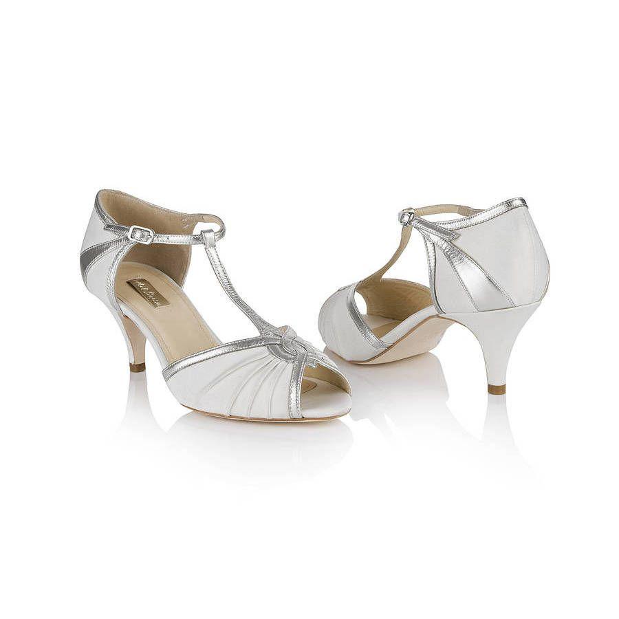 Matilda Ivory T Bar Shoes