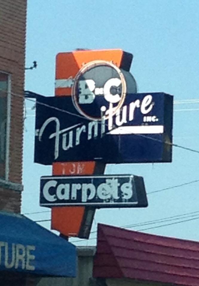 B-C Furniture, Grand Prairie, Texas | Vintage signs | Pinterest ...