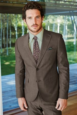 Buy Signature Grey Texture Tailored Fit Suit: Jacket from the Next ...
