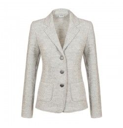 woman jacket in moss stitch
