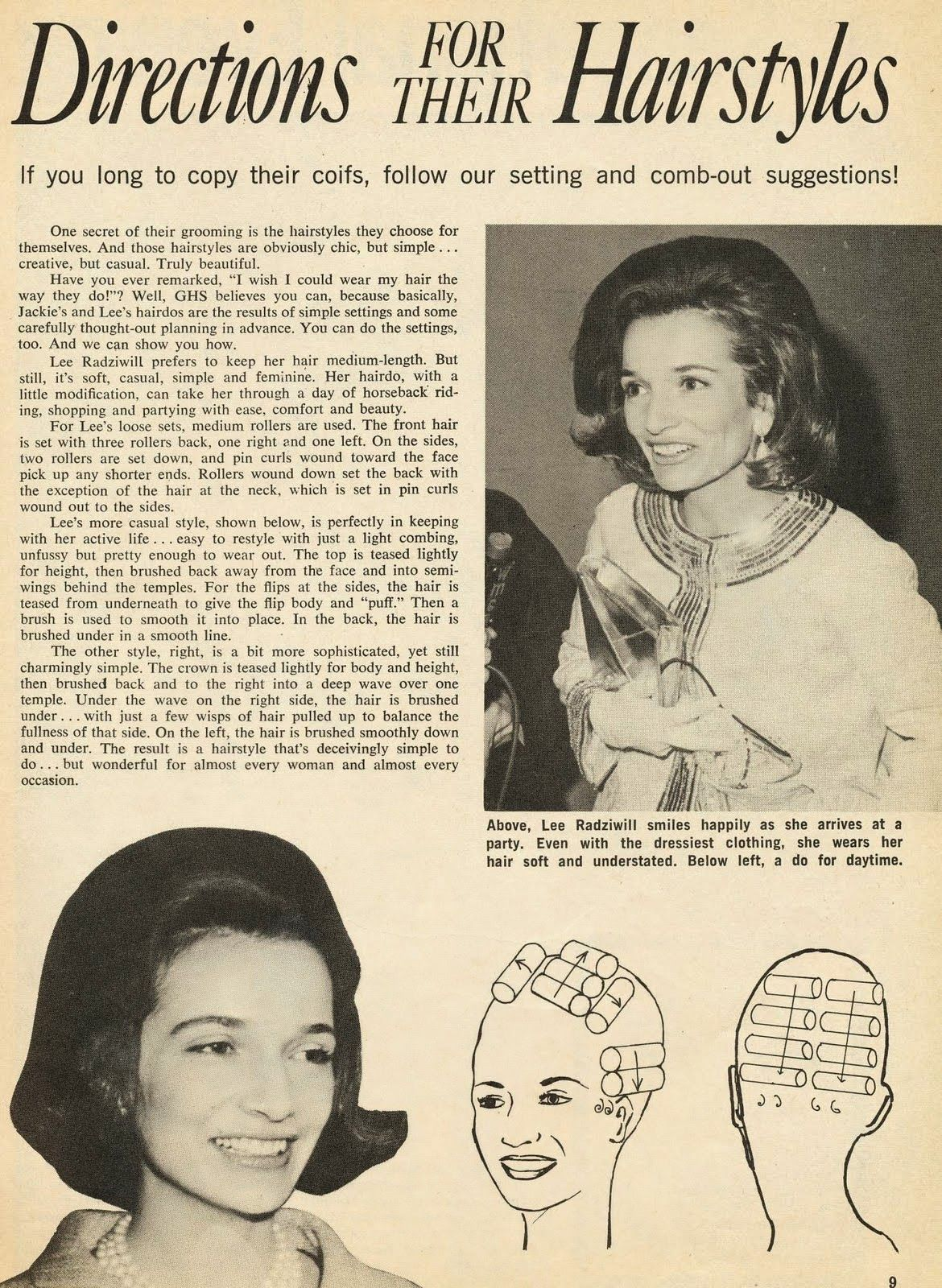 3 Hairstyle How To S From 1969 Glamour Hair Hair Styles Jackie Kennedy