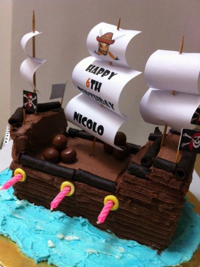 Kids birthday cake pirate ship young Birthday Cake Pinterest