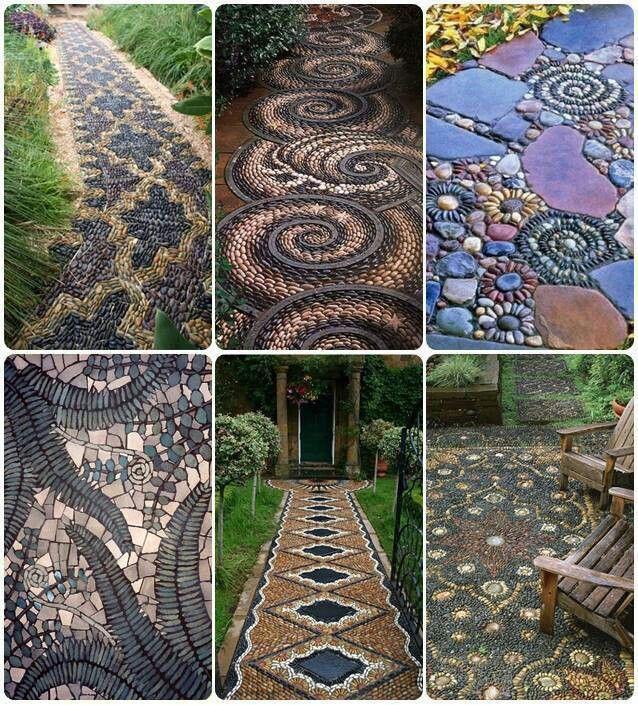 I want beautiful creative walkways