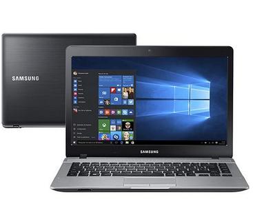 """Notebook Samsung Essentials E22 Intel Pentium Quad Core 4GB 500GB Tela LED 14"""" Windows 10 >"""