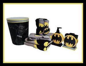 Ceramic Bathroom Sets: Batman Bathroom Accessories 12pc Bundle.  Http://theceramicchefknives.