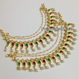 ac59e205c 1 gram gold necklace oval model collection - Swarnakshi Jewels And  Accessories