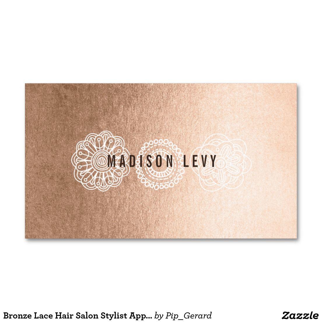 Cartes En Bronze De Rendez Vous Styliste Carte Visite Standard