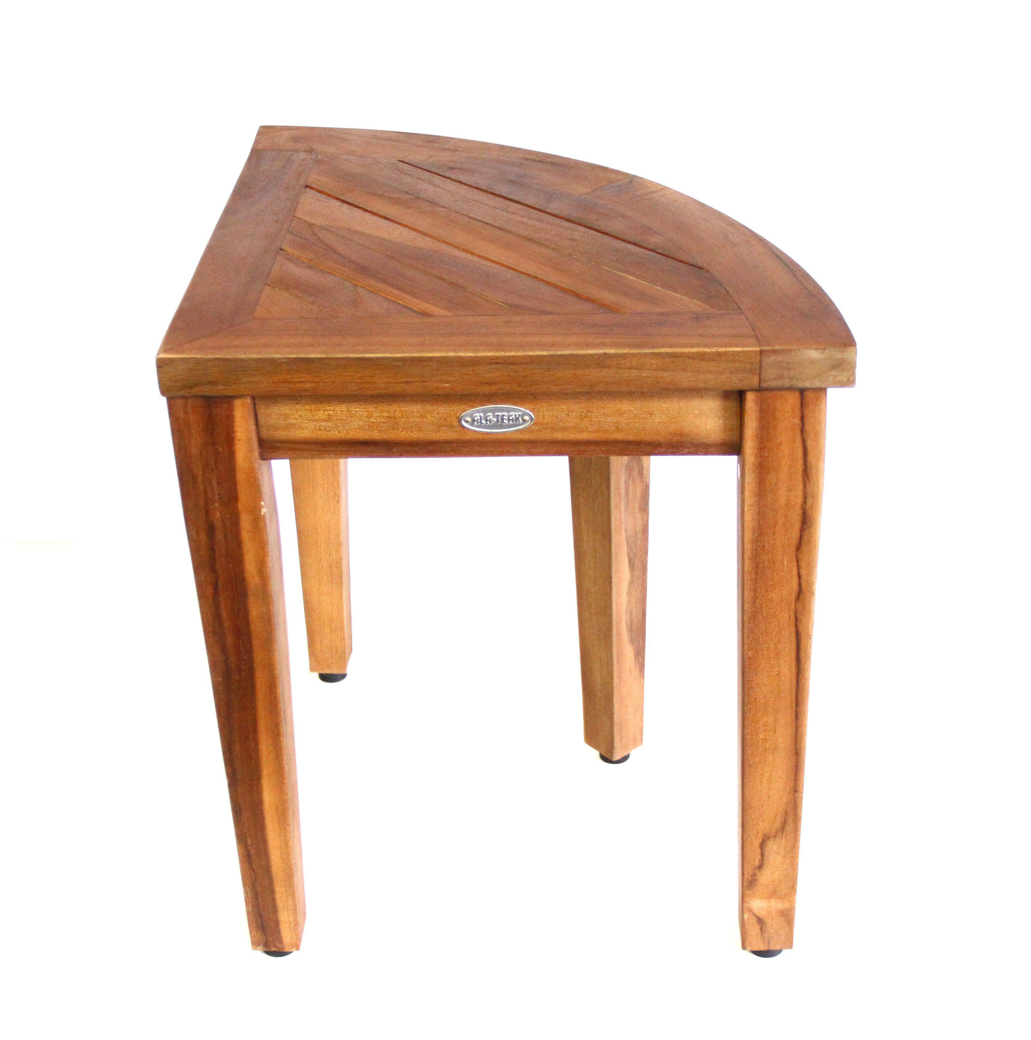 Corner Teak Wood Bath Spa Shower Stool Corner Table Bench Stool ...
