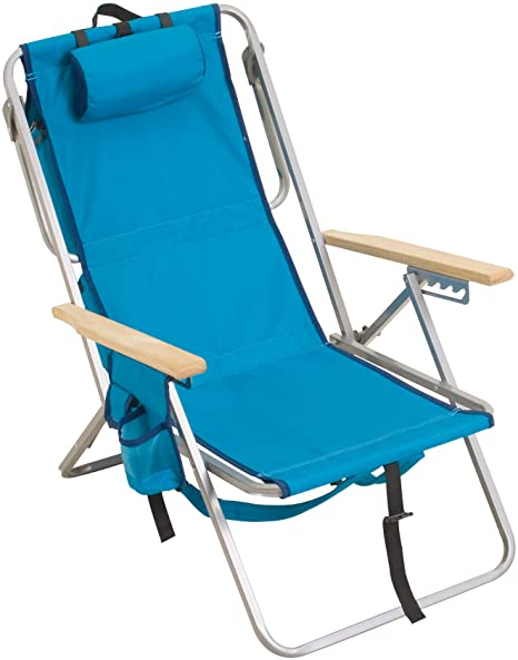 Amazon Com Rio Brands Gear 5 Position Steel Backpack Chair With