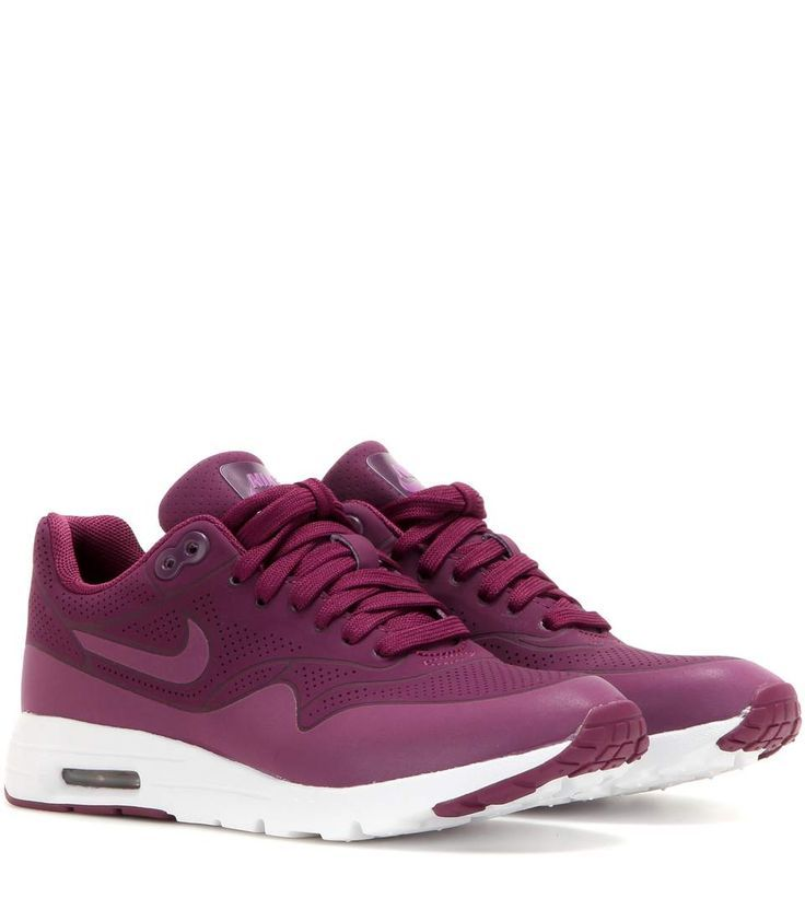 Nike Air Max 1 Des Femmes De Formateurs Violet  / Blanc Clou