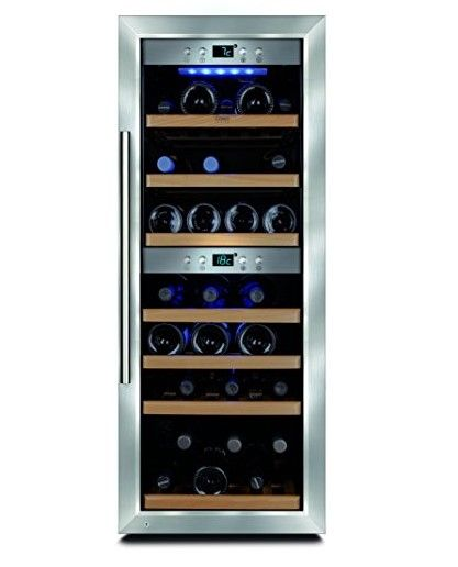 Caso Winemaster 38 Design Weinkuhlschrank Fur Bis Zu 38 Flaschen Bis Zu 310 Mm Hohe Zwei Temperaturzonen 5 20c Getrankekuhlschra Weinkuhlschrank Wein Schrank