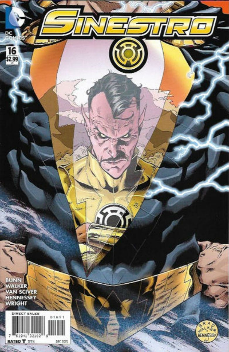 SINESTRO # 16...2015. DC COMICS. WRITER: Cullen Bunn. ARTIST: Brad Walker, Andrew Hennessy. COVER PRICE: $2.99. CHARACTERS: Sinestro, Black Adam. NOW PRICE: $3.50.