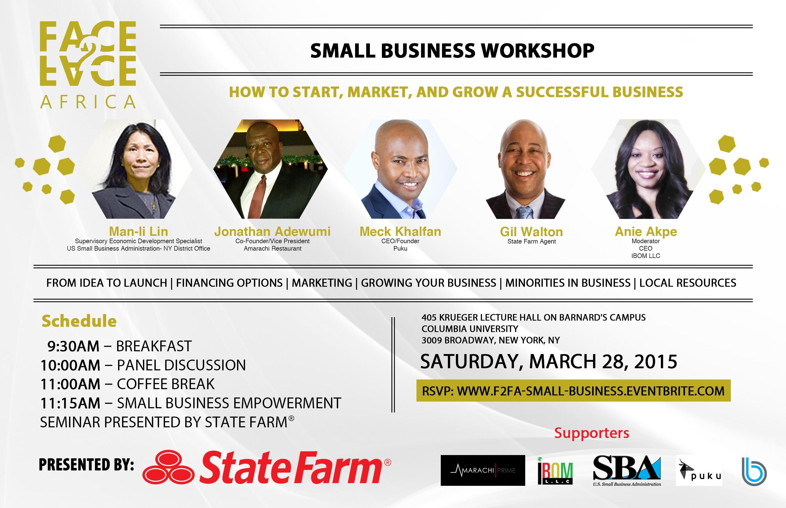 Small Business Loan Panel Discussion Workshop Flyer  Google