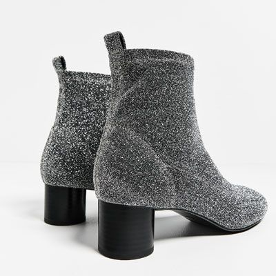 8928196cb Image 6 of SHINY SOCK ANKLE BOOTS from Zara | s h o e s | Sock ankle ...