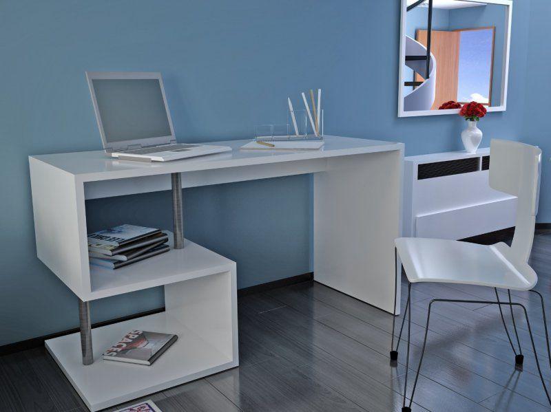 Bureau esse scrivania blanc brillant bureaus