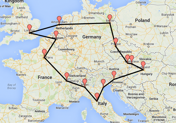 Our Interrail Route For Summer 2014 London Brussels Paris Geneva Milan Florence Venice Bled Europe Train Travel Europe Train Europe Travel
