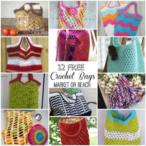 Bags Bags Bags Diys I Want To Do Pinterest Free Crochet Bag