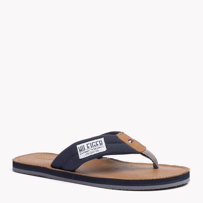 Tommy Hilfiger Leather-sole Flip-flop - midnight (Blue) - Tommy Hilfiger Flip Flops - detail image 0