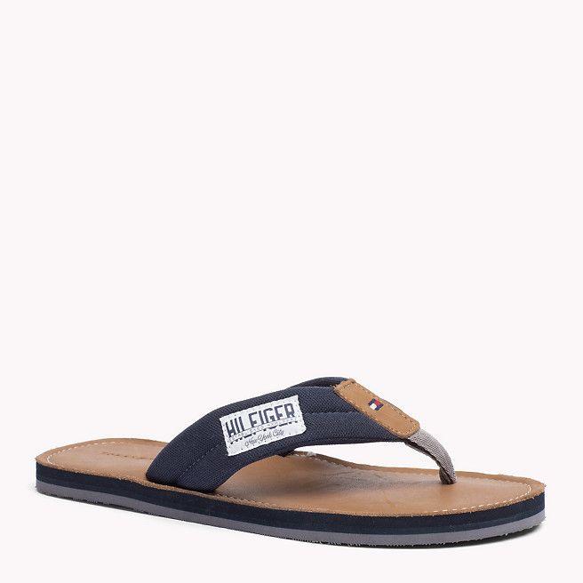 feec9348b Tommy Hilfiger Leather-sole Flip-flop - midnight (Blue) - Tommy Hilfiger  Flip Flops - detail image 0