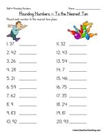 Rounding to Hundred Billions - Rounding Worksheet 3 | Worksheets ...