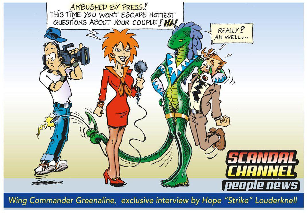 Greenaline-Vs-Press By Vladcorail  Reptile Funny Couple Comic In 2019  Furry Comic, Vertigo Comics, Lizard Girl-4278