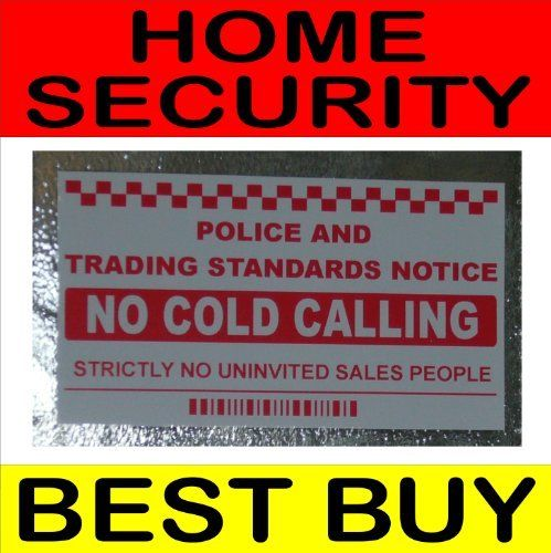 No cold callerssalesman calling warning house sticker self adhesive vinyl door or window sign by platinum place