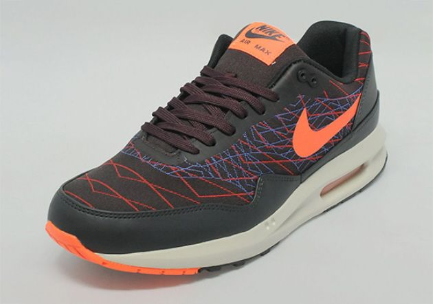 Nike Air Max Lunar1 Jacquard – Dark Burgundy / Black – Red / Blue