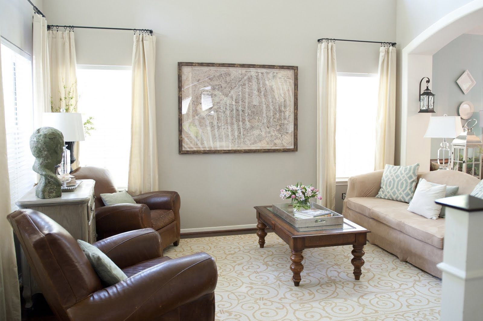 Interior Designers Restoration Warm Neutral Paint Colors Living
