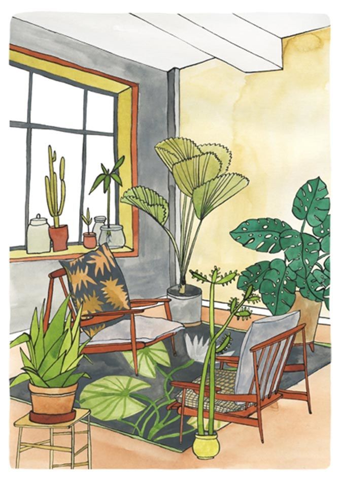 Interior Series - illustration by Bodil Jane