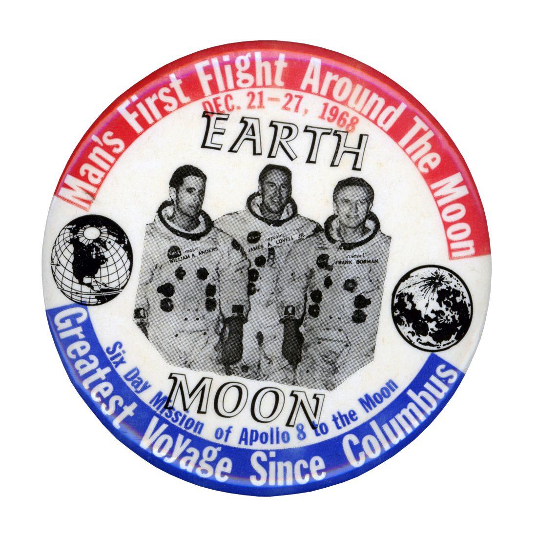 Johnson Space Center Button, vintage 1968