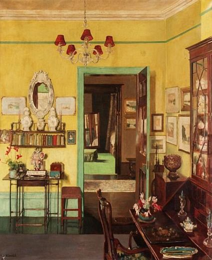 artful interiors paintings of beautiful rooms mary dawson elwell the yellow interior
