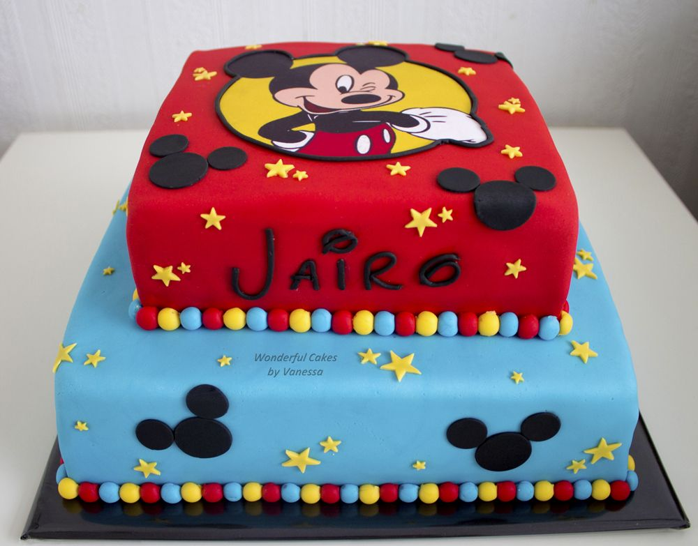 Disney Themed Cakes Mickey Mouse Cake En 2019 Pastel